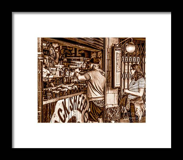 London Framed Print featuring the photograph Coffee Time At The Station. by Nigel Dudson