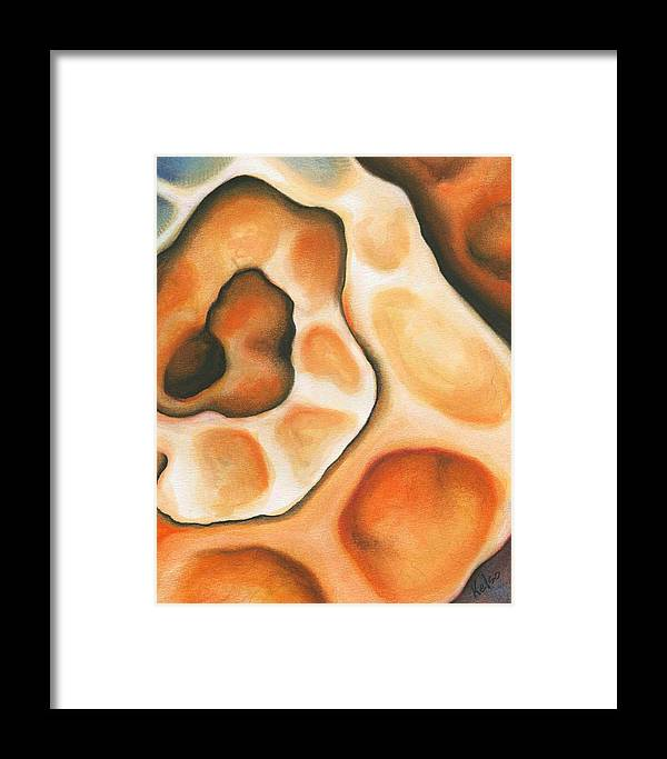 Coil Framed Print featuring the pastel Coil by Bonnie Kelso