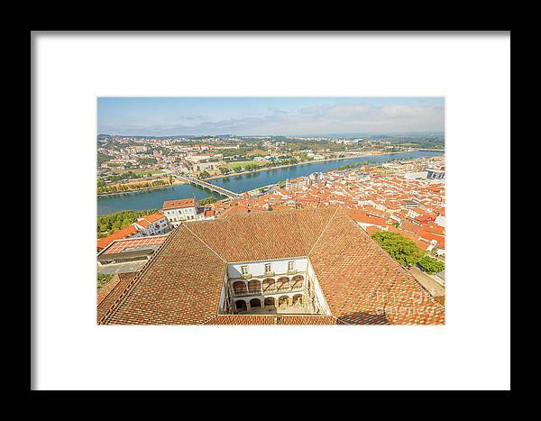Coimbra Framed Print featuring the photograph Coimbra Aerial View by Benny Marty