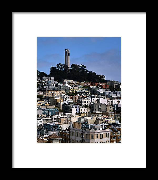 Coit Framed Print featuring the photograph Coit Tower In San Francisco by Rob Nicholson