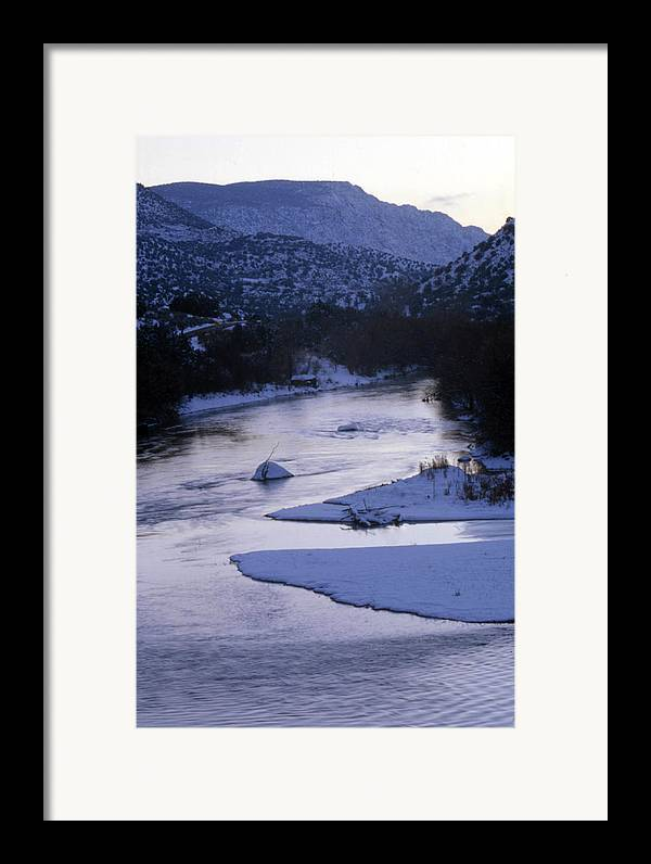 Landscape Framed Print featuring the photograph Cold And Blue by Lynard Stroud