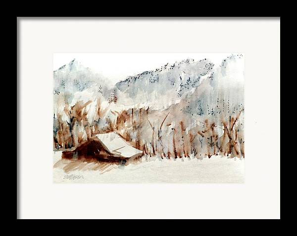 Cold Cove Framed Print featuring the mixed media Cold Cove by Seth Weaver