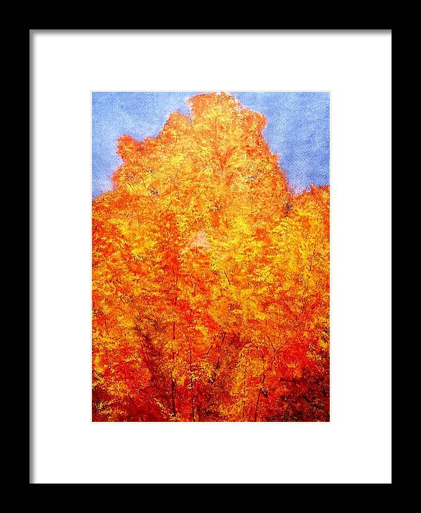 Watercolor Framed Print featuring the painting Cold Fire by Cynthia Ann Swan