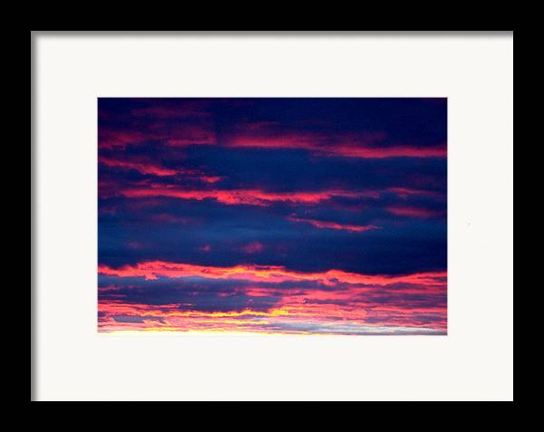 Sky Framed Print featuring the photograph Cold Front Sunset One by Ana Villaronga