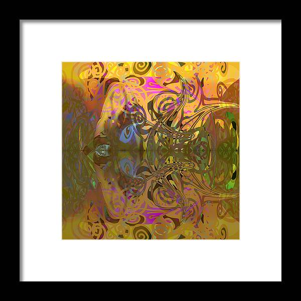 Abstract Framed Print featuring the digital art Cold Light Of Day by Grant Wilson