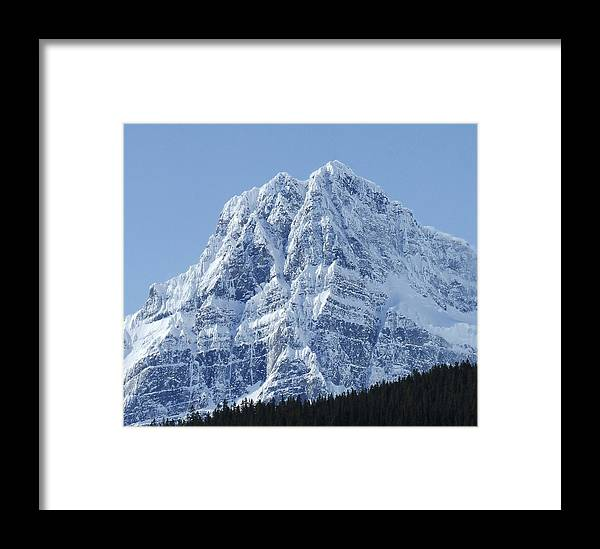 Cold Framed Print featuring the photograph Cold Mountain- Banff National Park by Tiffany Vest