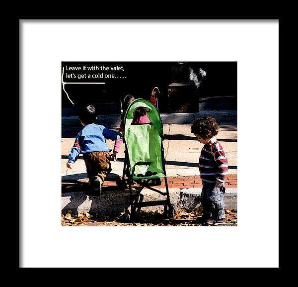 Youngsters Framed Print featuring the photograph Cold One by Leon Hollins III