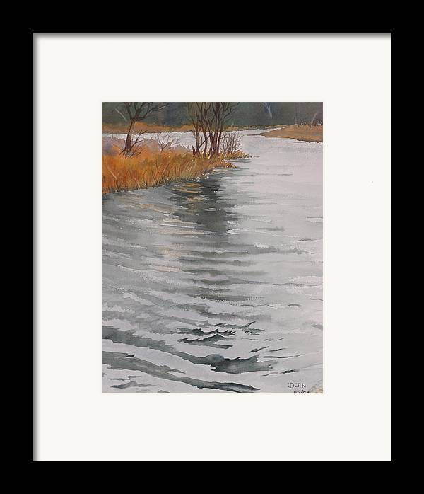 Framed Print featuring the painting Cold Water by Debbie Homewood