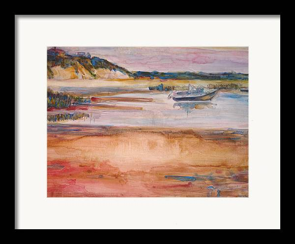 Landscape Framed Print featuring the painting Cole Brook Bay by Joyce Kanyuk