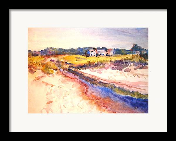 Landscape Framed Print featuring the painting Cole Brook by Joyce Kanyuk
