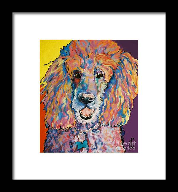 Standard Poodle Framed Print featuring the painting Cole by Pat Saunders-White