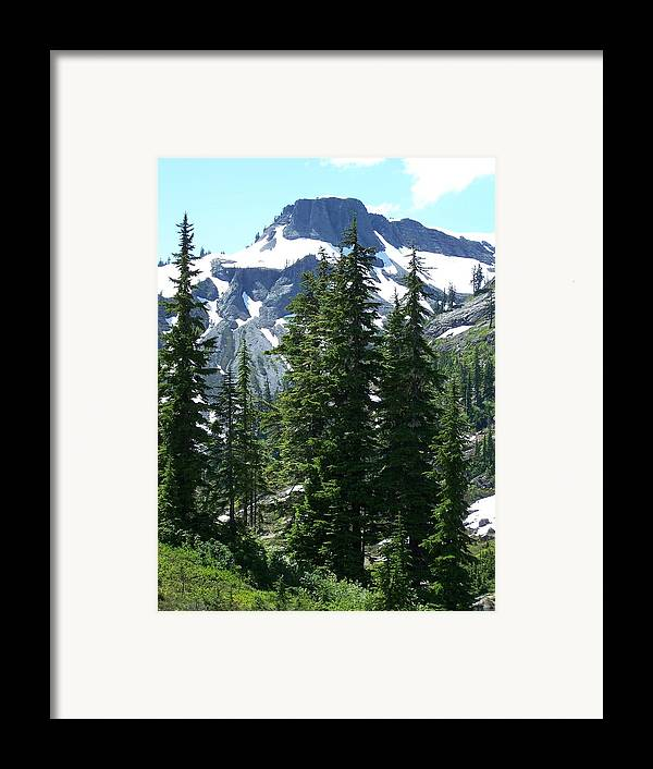 Mountain Peak Framed Print featuring the photograph Coleman Pinnacle 2 by Gene Ritchhart