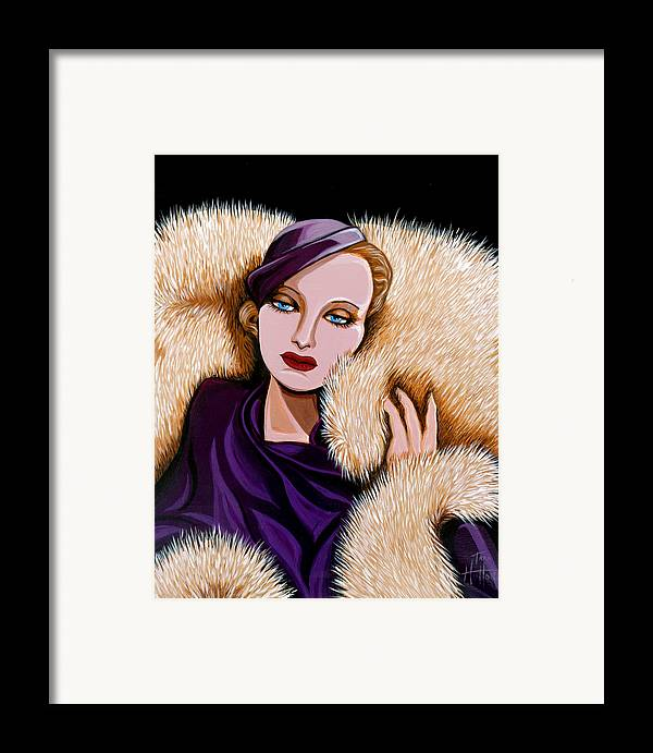 Painting Framed Print featuring the painting Colette by Tara Hutton
