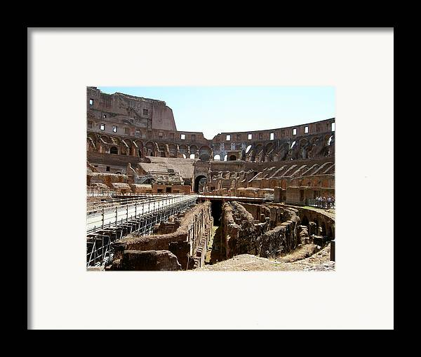 Rome Framed Print featuring the photograph Coliseum 2 by Blima Efraim