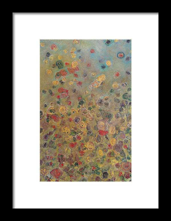Abstract Framed Print featuring the painting Collaboration Of Colors by Jacob Stempky