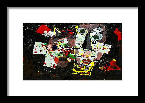 Abstract Framed Print featuring the painting Collage 2 by Paul Freidin
