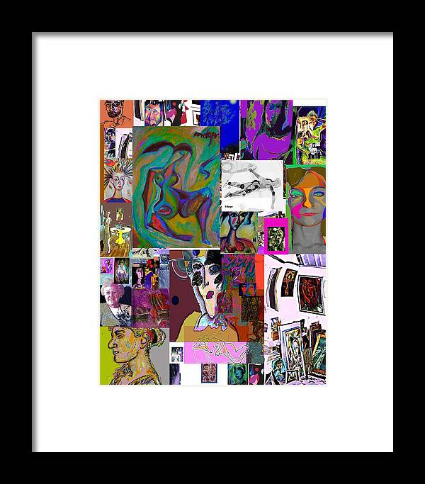 Collage Framed Print featuring the painting Collage 9 by Noredin Morgan