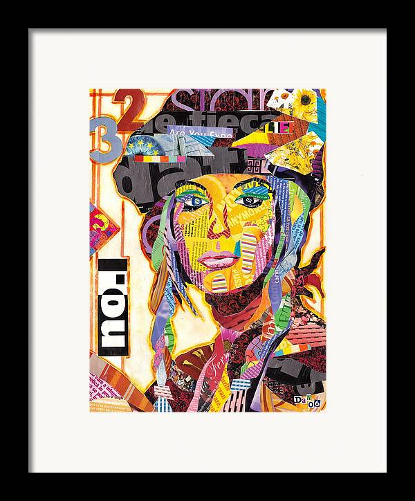 Collage Framed Print featuring the mixed media Collage Portrait by Oprisor Dan