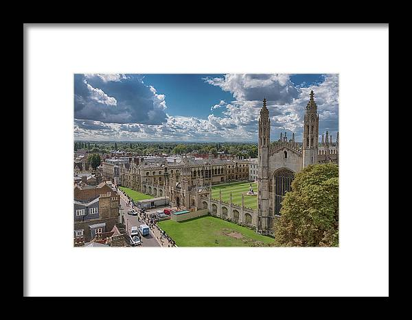 Cambridge Framed Print featuring the photograph College Of Kings by Monika Tymanowska
