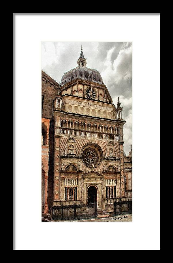 Chapel Framed Print featuring the painting Colleoni Chapel by Jeffrey Kolker