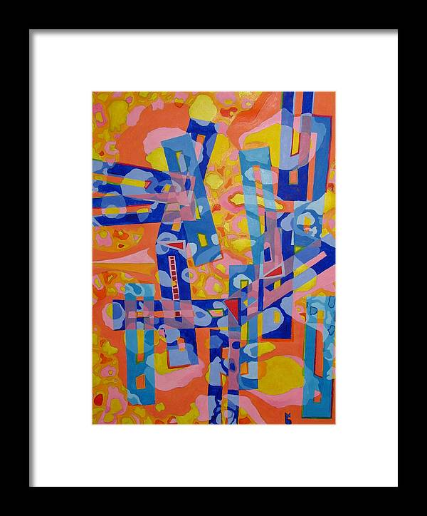 Collision Framed Print featuring the painting Collision by Michael Semsch