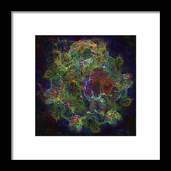 Space Framed Print featuring the digital art Collision Of Worlds by Diane Parnell