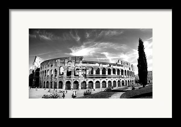 City Framed Print featuring the photograph Colloseum by Hilthart Pedersen