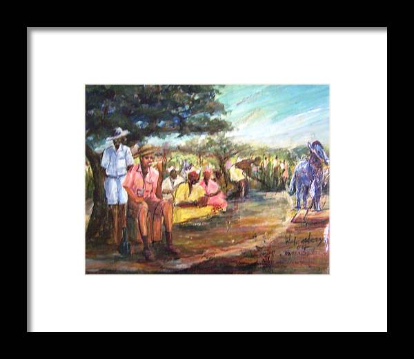 Colonialism Framed Print featuring the painting Colonia Master by Wale Adeoye