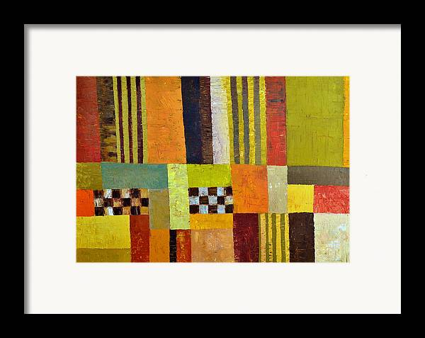 Colorful Framed Print featuring the painting Color And Pattern Abstract by Michelle Calkins