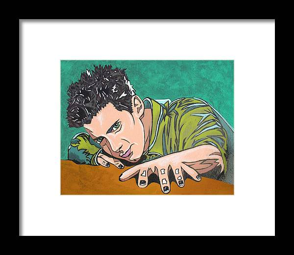 Seth Green Framed Print featuring the digital art Color Change by Sarah Crumpler
