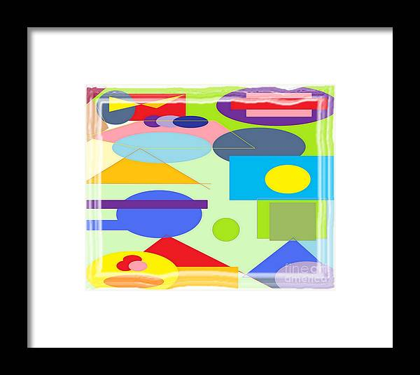 Abstract Framed Print featuring the painting Color Confusion by Richard Heyman