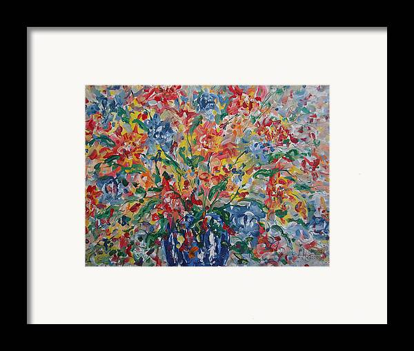 Painting Framed Print featuring the painting Color Expressions. by Leonard Holland