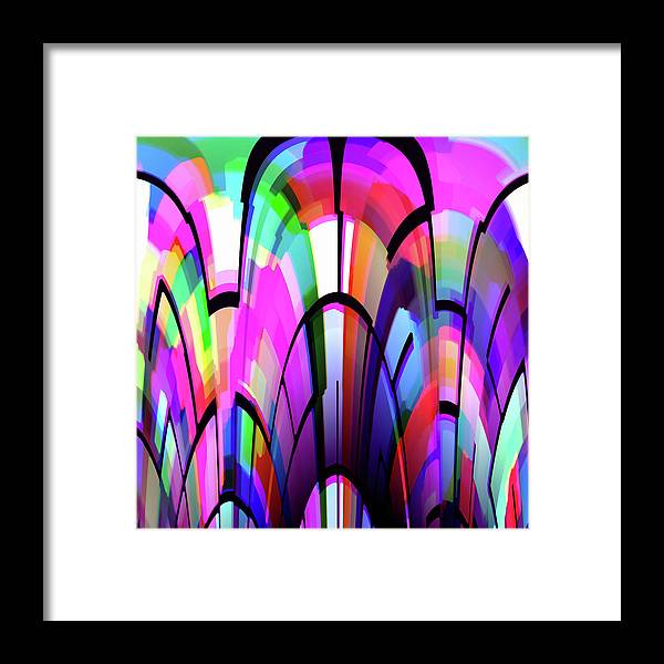 Color Framed Print featuring the digital art Color Gates by Mihaela Stancu