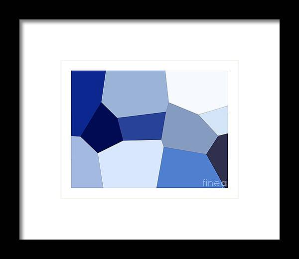 Glass Framed Print featuring the digital art Color Glass by Hussein Kefel