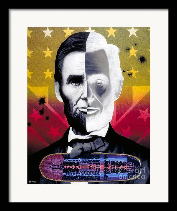 Civil War Framed Print featuring the painting Color In Black And White by Ross Edwards