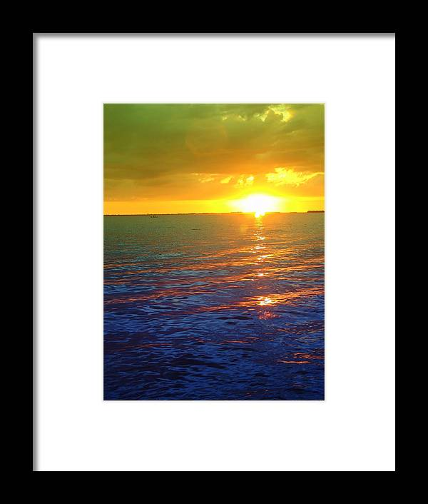 Sunset Framed Print featuring the photograph Color Me A Tropic Sunset by Florene Welebny