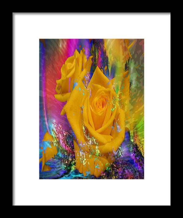 Roses Framed Print featuring the digital art Color Me With Love by Kevin Caudill