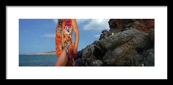 Color Nude Photography Framed Print featuring the photograph Color Nude 024 by Manolis Tsantakis
