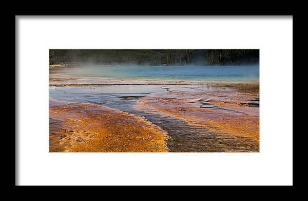 Grand Prismatic Spring Framed Print featuring the photograph Color Of Life by Chad Davis