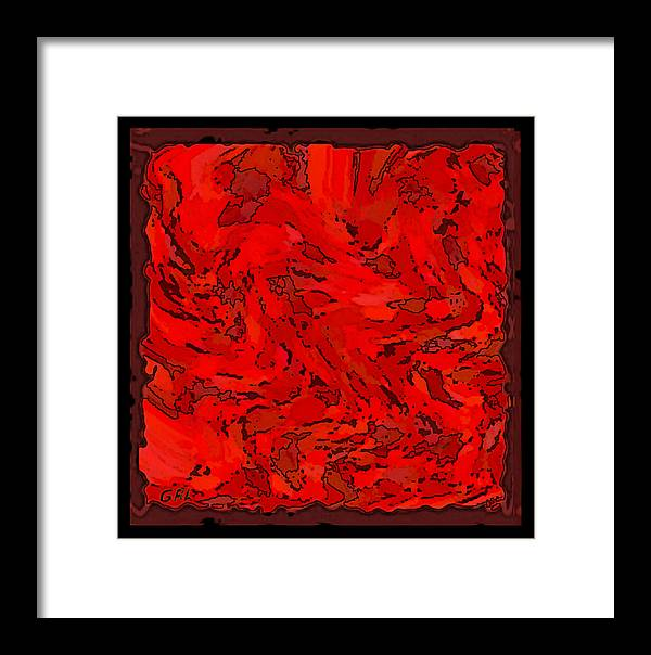 Color Framed Print featuring the painting Color Of Red Vi I Contemporary Digital Art by G Linsenmayer