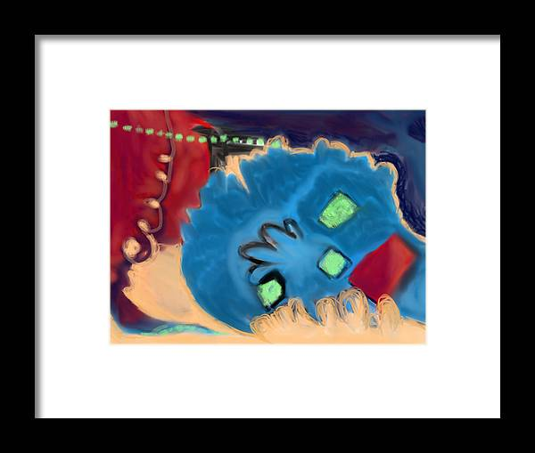 Abstract Shapes Framed Print featuring the digital art Color Play by Susan Stone