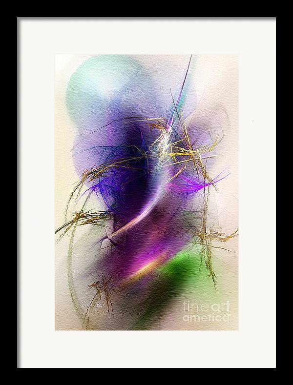 Abstract Digital Fractal Digital Framed Prints Canvas Framed Print featuring the digital art Color Snare by Carolyn Staut