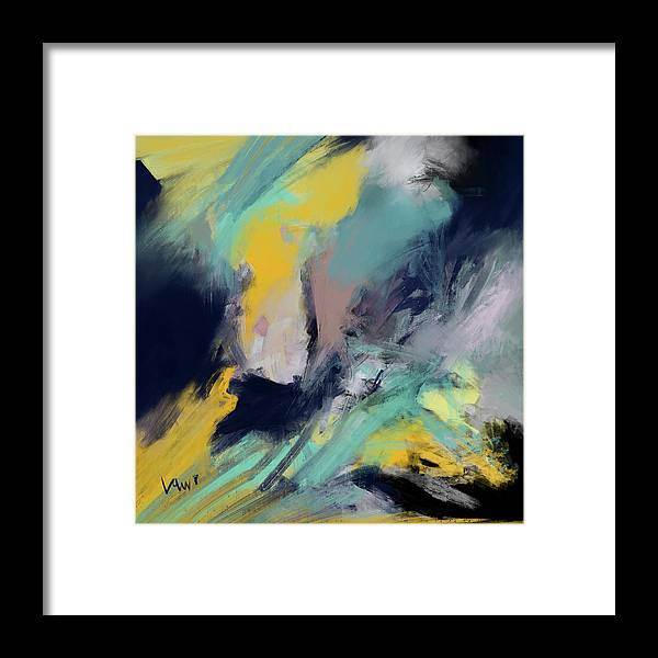 Digital Framed Print featuring the digital art Color Space by Ken Law
