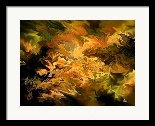 Abstract Framed Print featuring the digital art Color Storm by Tom Romeo