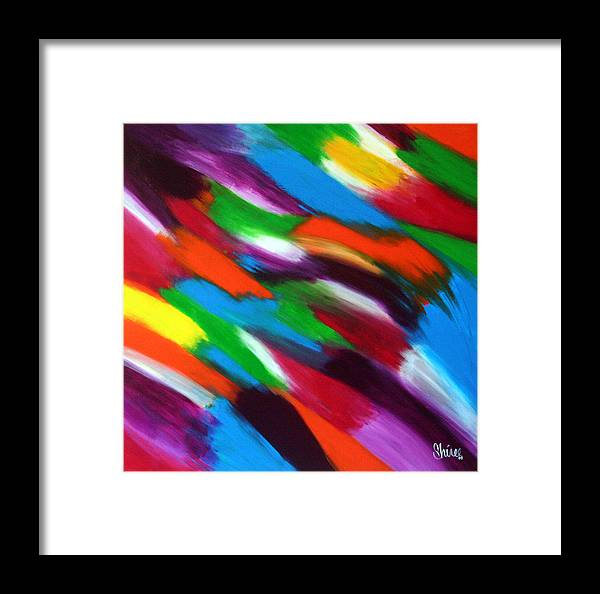Color Framed Print featuring the painting Color Was Here by Shiree Gilmore