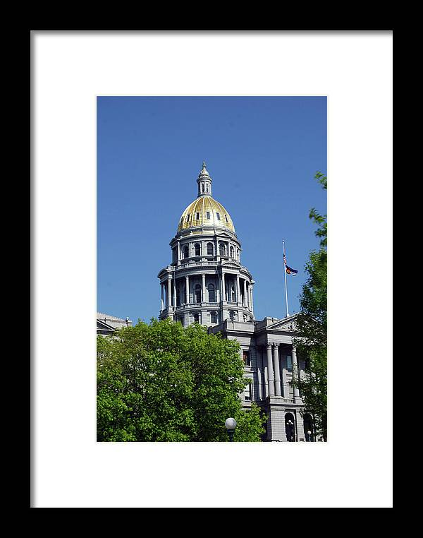 Colorado Framed Print featuring the photograph Colorado Capitol Building by Wes Hanson