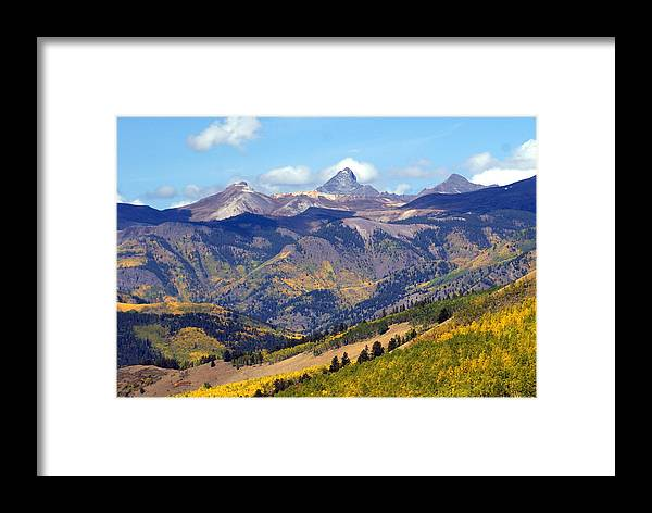 Mountains Framed Print featuring the photograph Colorado Mountains 1 by Marty Koch