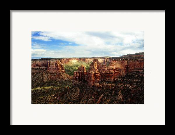 Americana Framed Print featuring the photograph Colorado National Monument by Marilyn Hunt