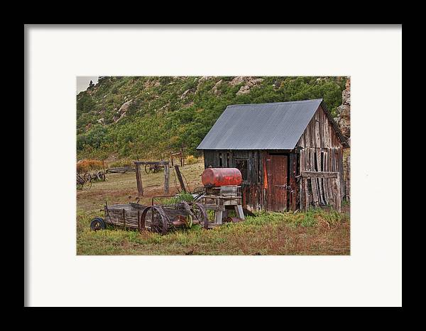 Black Mesa Framed Print featuring the photograph Colorado Ranch by Charles Warren