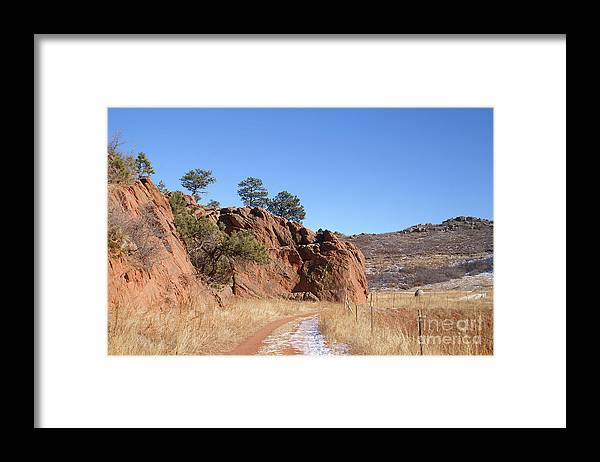Colorado Framed Print featuring the photograph Colorado Red Rock by Jack Norton